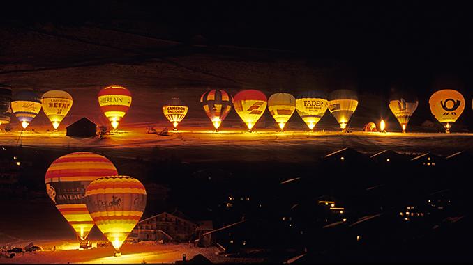 International Festival Montgolfere de Chateau d'Oex Swiss